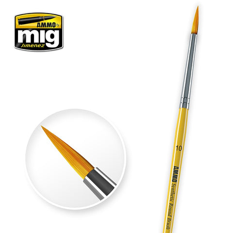 Synthetic Paint Brush - Round (10) - Pegasus Hobby Supplies