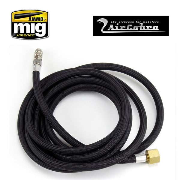 Aircobra Braided Airbrush Hose - 8ft with Quick Disconnector