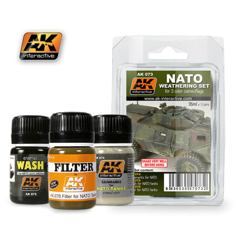 Weathering Set for NATO 3 Color Camouflage Vehicles