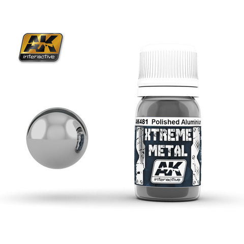 Xtreme Metal Polished Aluminium (30ml) - Pegasus Hobby Supplies