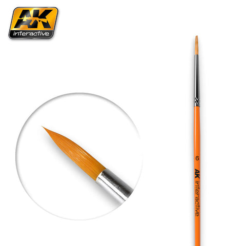 Synthetic Paint Brush - Round (6) - Pegasus Hobby Supplies