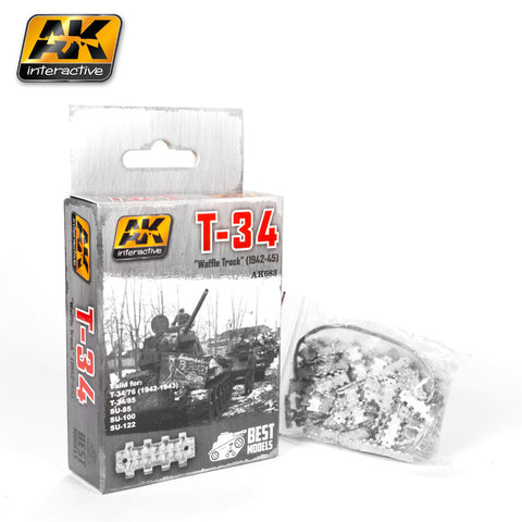 "Metal Tracks : T-34 M-1942 ""Waffle Track"" (1942-45) [Unassembled] - Pegasus Hobby Supplies"