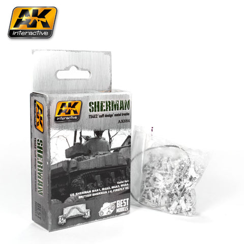 "Metal Tracks : Sherman T54E2 ""Cuff Design"" Tracks [Unassembled]"
