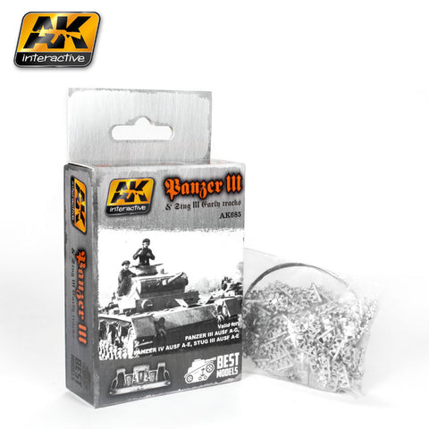 Metal Tracks : Panzer III & Stug III Tracks [Unassembled]