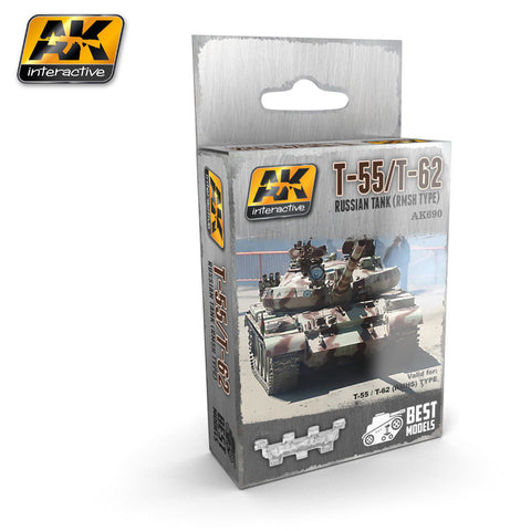 Metal Tracks : T-55/T-62 Russian Tank (RMSH Type)  [Unassembled]