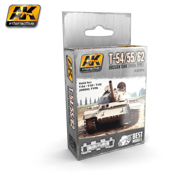 Metal Tracks : T-54/T-55/T-62 Russian Tank (OMSH Type)  [Unassembled]