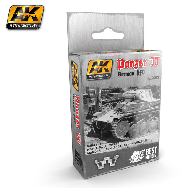 Metal Tracks : Panzer II German AFV Tracks [Unassembled]