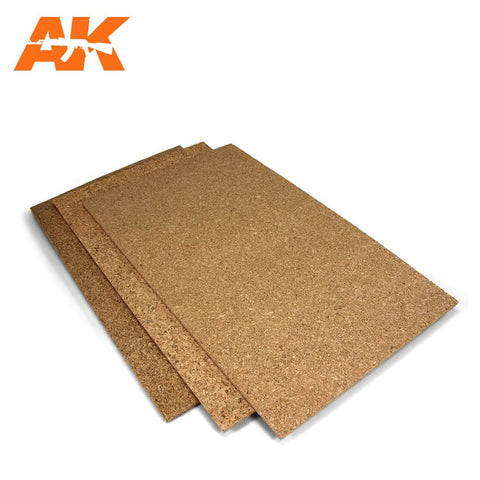 Cork Sheet - FINE Grain (200mm x 300mm x 1mm/2mm/3mm)