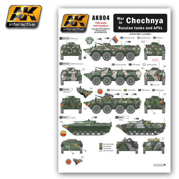 Wet Transfers - War in Chechnya Russian Tanks & AFV's