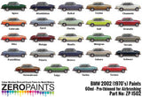Zero Paints : BMW 2002 (1970's) Colours (60ml) - Pegasus Hobby Supplies