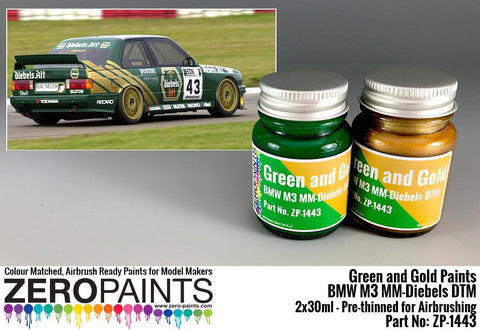 Zero Paints : BMW M3 MM-Diebels DTM - Green and Gold Set (2 x 30ml)