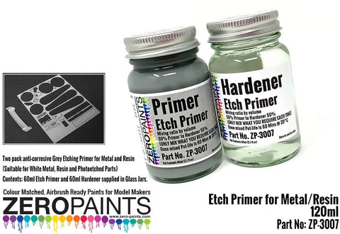 Zero Paints : Etch Primer for Metal/Resin (2 x 60ml) - Pegasus Hobby Supplies