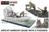 Air Cat Air Boat with Crew (2 Figures) & Diorama Base