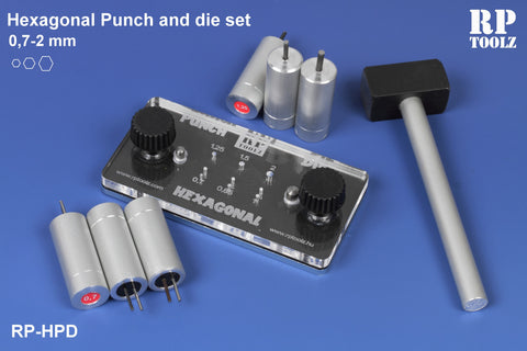Hexagonal Punch & Die Set - Pegasus Hobby Supplies