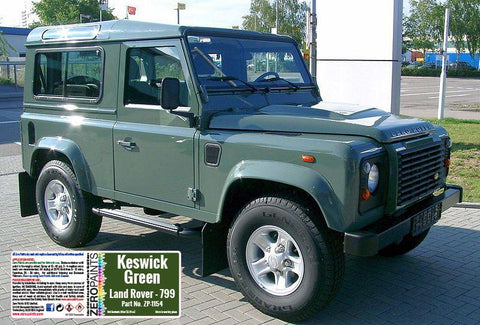 Zero Paints : Land Rover Keswick Green 799 (60ml)