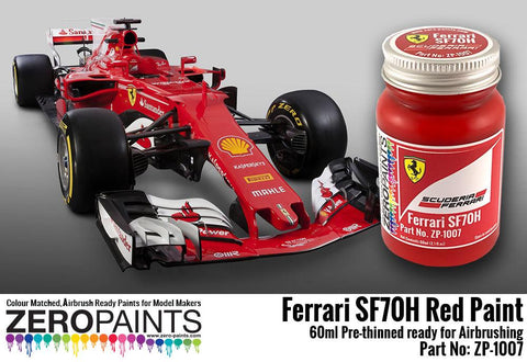 Zero Paints : Ferrari SF70H Red  (60ml) - Pegasus Hobby Supplies