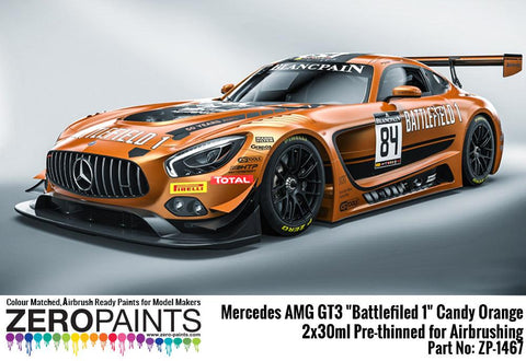 "Zero Paints : Mercedes AMG GT3 ""Battlefiled 1"" Candy Orange 2x30ml (60ml)"