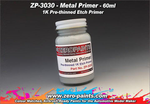 Zero Paints : Metal Primer [Airbrush Ready] (60ml) - Pegasus Hobby Supplies