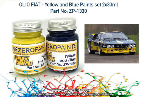 Zero Paints : Olio Fiat ­ Yellow and Blue Paint Set 2x30ml (60ml)