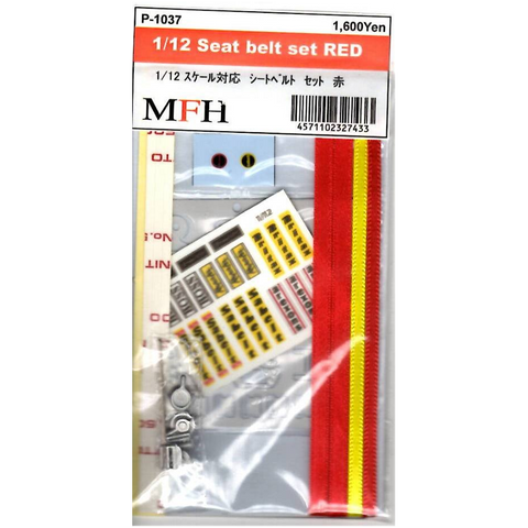 MFH : Seat Belt Set Red (1/12) - Pegasus Hobby Supplies