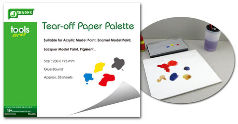 Tear-off Paper Palette - Pegasus Hobby Supplies