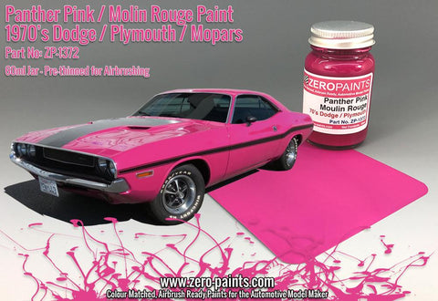 Zero Paints : Panther Pink /Moulin Rouge Paint - 70's Dodge, Plymouth, Mopar (60ml) - Pegasus Hobby Supplies