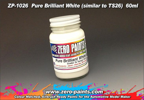 Zero Paints : Pure Brilliant White [Similar to TS26] (60ml)