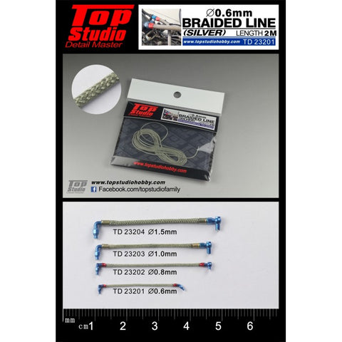 Top Studio : Braided Line (Silver) 0.6mm