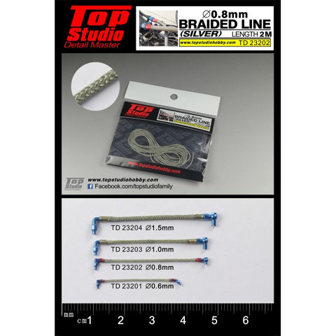 Top Studio : Braided Line (Silver) 0.8mm