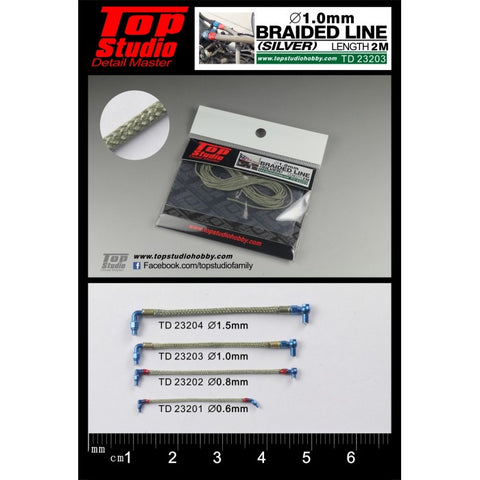 Top Studio : Braided Line (Silver) 1.0mm