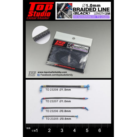 Top Studio : Braided Line (Black) 1.0mm