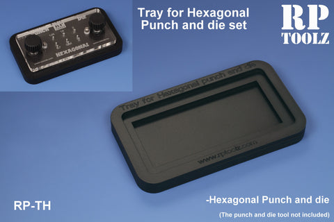 Hexagonal Punch & Die Tray - Pegasus Hobby Supplies