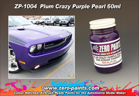 Zero Paints : Plum Crazy Purple Pearl (60ml)