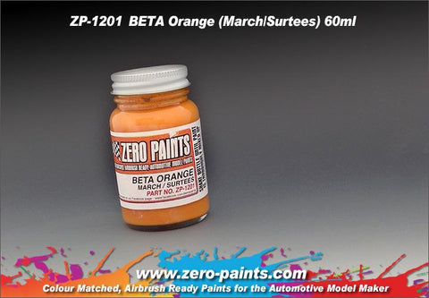 Zero Paints : BETA Orange (March/Surtees) (60ml)
