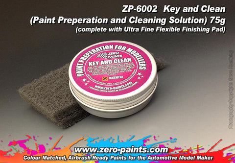 Zero Paints : Key and Clean [Paint Preparation and Cleaning Solution] (75g) - Pegasus Hobby Supplies