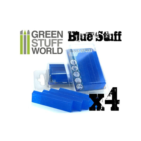 Blue Stuff - Reusable Mould Material (4 Bars) - Pegasus Hobby Supplies