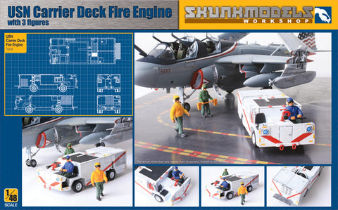 USN Carrier Deck Fire Engine with 3 Figures