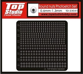 Round Nuts Photo-Etch Set 0.6-1.3mm