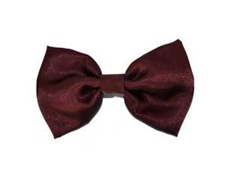 Burgundy Satin Bow Tie for dog in wedding