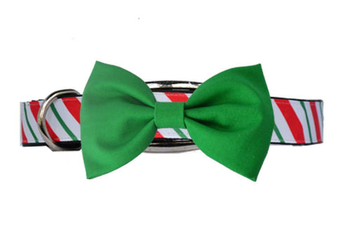 Candy Cane Green Bow Tie Set