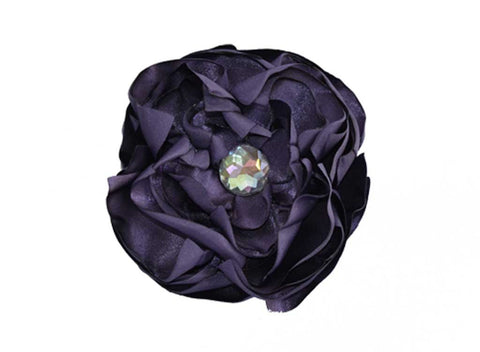 Eggplant Satin Flower for dog in wedding