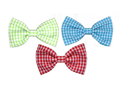 Custom Gingham Bow Tie