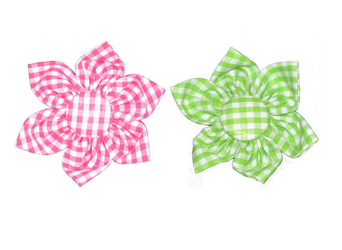 Custom Gingham Flower