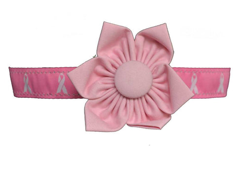 Hot Pink Breast Cancer Flower Set