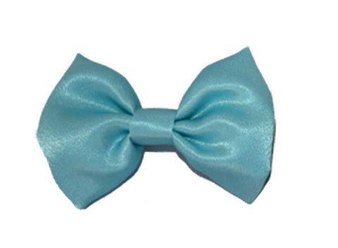 Light Blue Satin Bow Tie for dog in wedding