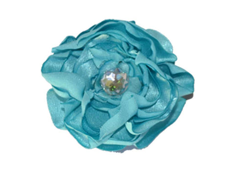 Light Blue Satin Flower for dog in wedding