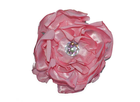 Pink Satin Flower for dog in wedding