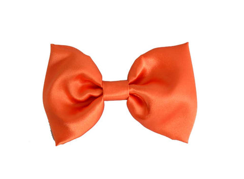 Orange Satin Bow Tie for dog in wedding