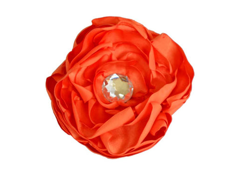 Orange Satin Flower for dog in wedding