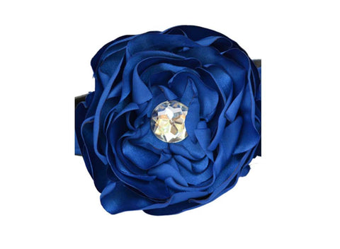 Royal Blue Satin Flower for dog in wedding